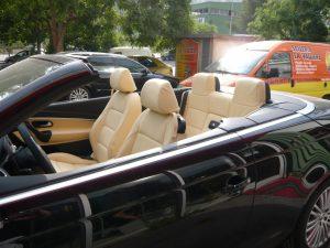 sellerie cuir automobile, capote cabriolet