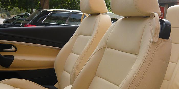 La sellerie automobile, personnalisation de l'intérieur de votre voiture en cuir et tissus.